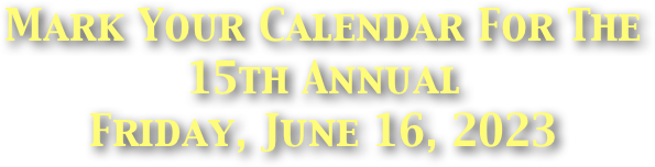 Mark Your Calendar For The